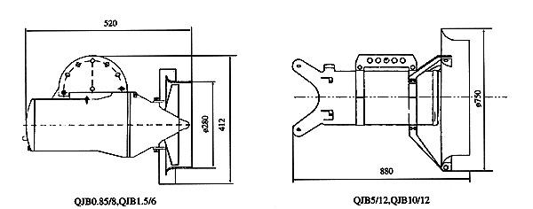 潜水搅拌机qjb4/12-620/3-480s 不锈钢主机配不锈钢支架 耐腐蚀图片